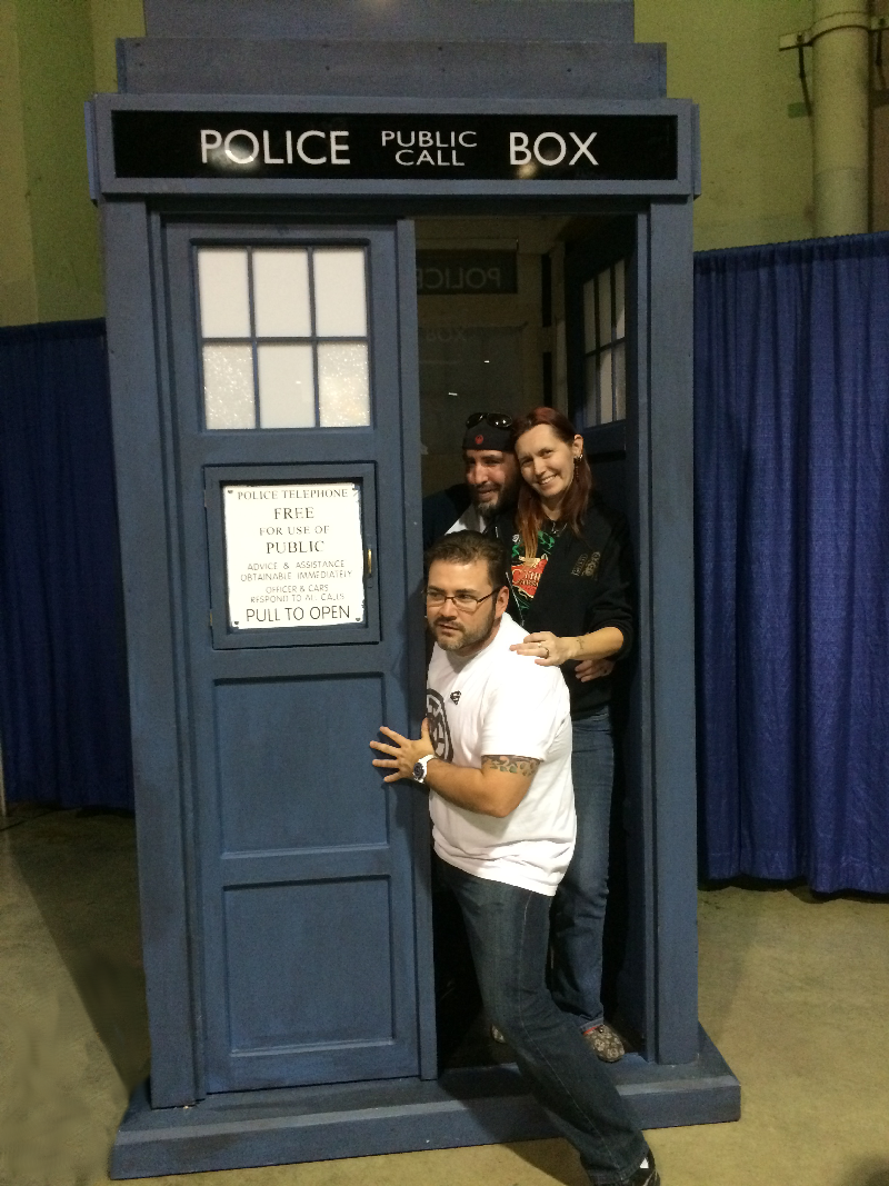 We have arrived in the TARDIS at Longbeach Comic Expo 2015!