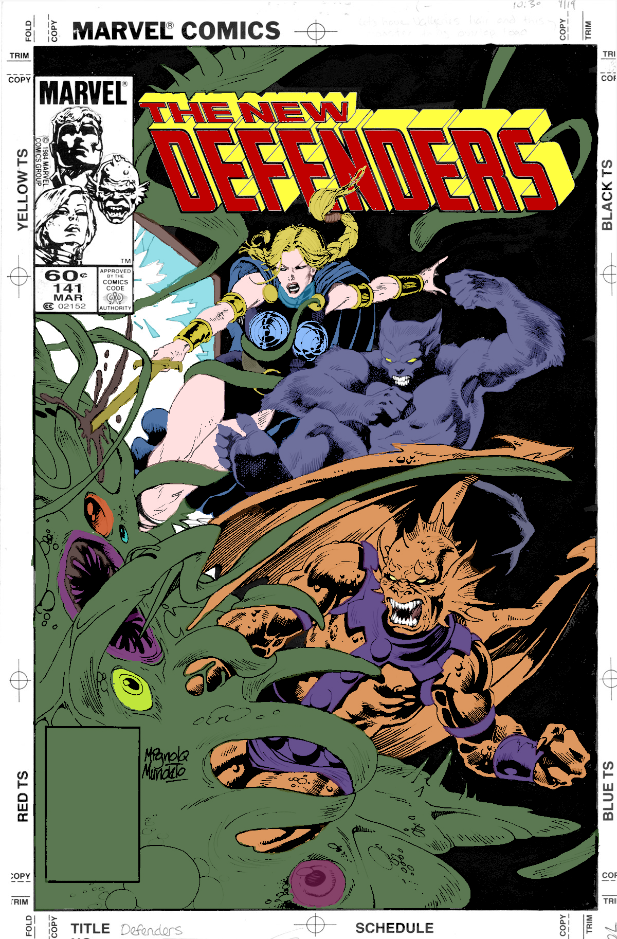 The New Defenders 141 Coloring Book